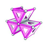 Geomag Magnetic Pink Construction Building 68 Pieces Set Kids Gift Toy